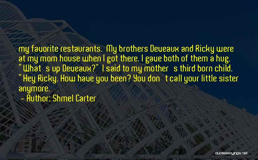 Little Brothers From Sister Quotes By Shmel Carter