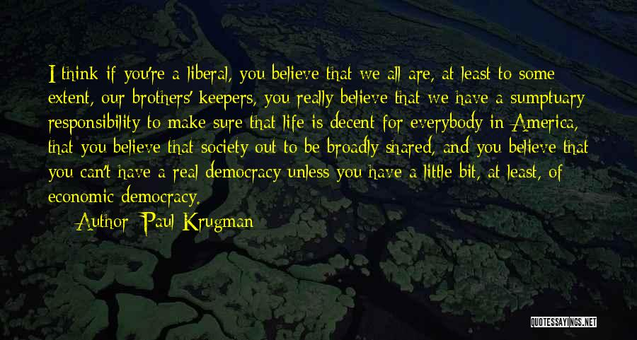 Little Brothers Quotes By Paul Krugman