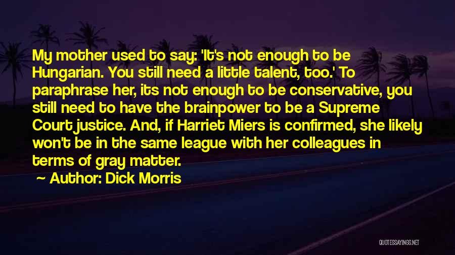 Little Things Matter Most Quotes By Dick Morris