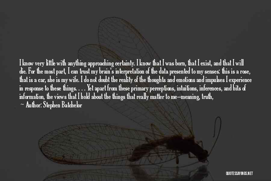 Little Things Matter Most Quotes By Stephen Batchelor