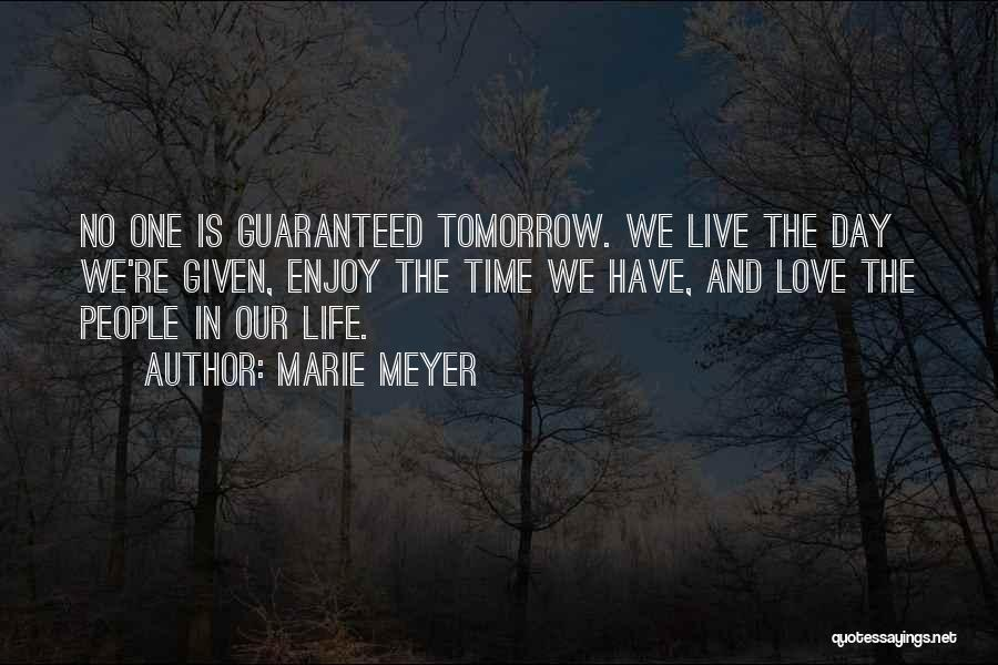 Live And Enjoy Life Quotes By Marie Meyer