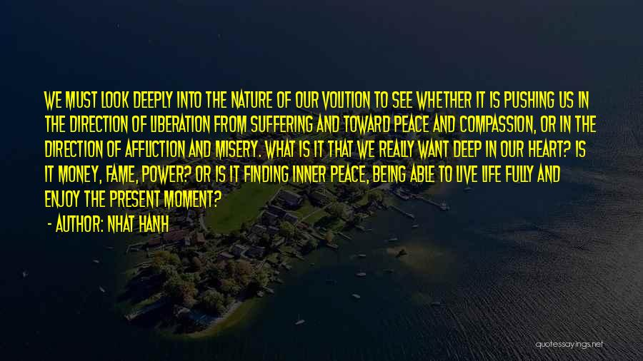 Live And Enjoy Life Quotes By Nhat Hanh