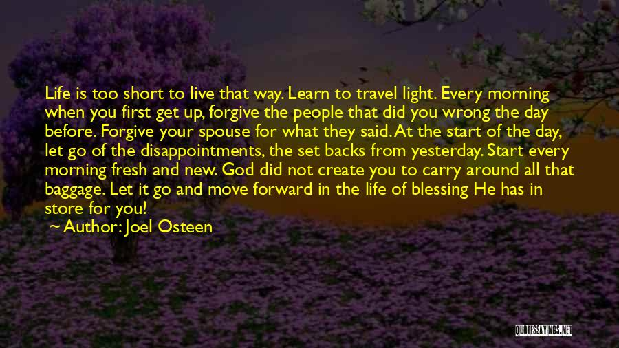 Live And Learn Short Quotes By Joel Osteen