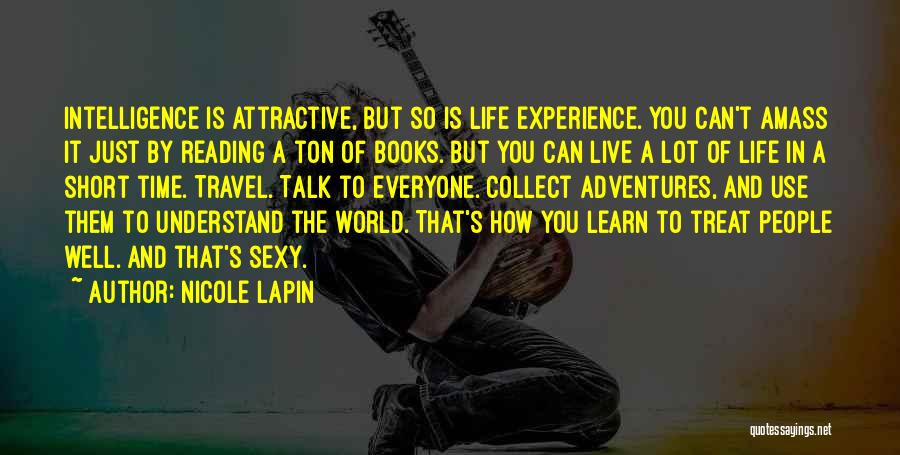 Live And Learn Short Quotes By Nicole Lapin