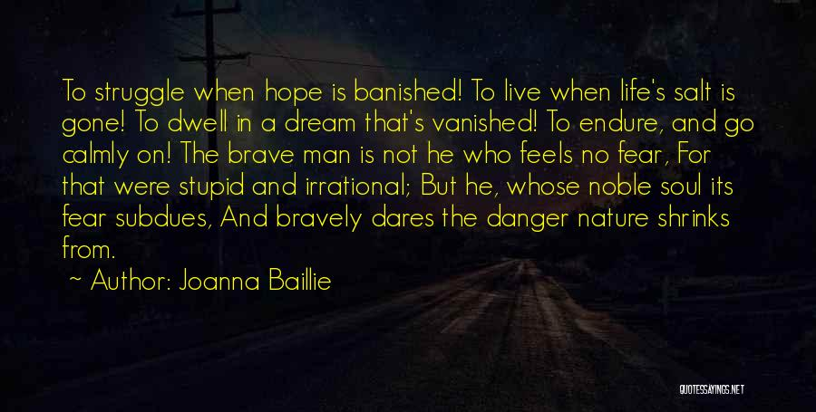 Live Bravely Quotes By Joanna Baillie