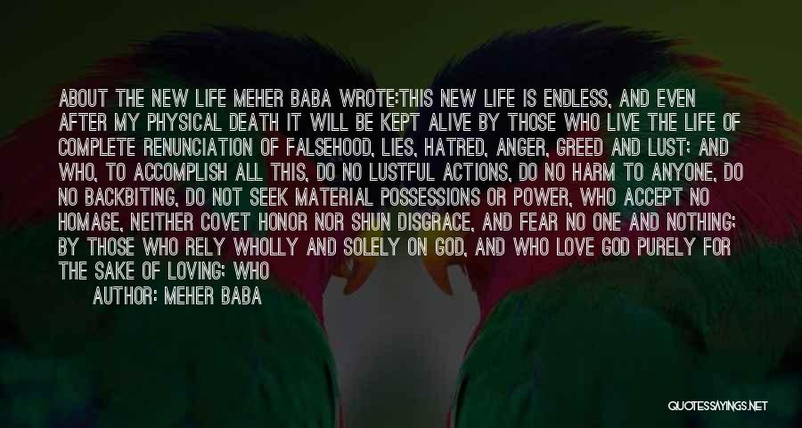 Live Bravely Quotes By Meher Baba