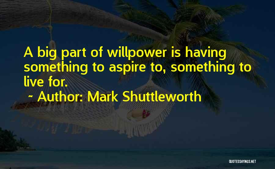 Live For Something Quotes By Mark Shuttleworth
