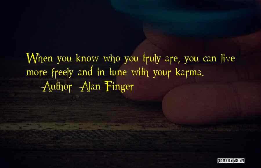 Live Freely Quotes By Alan Finger