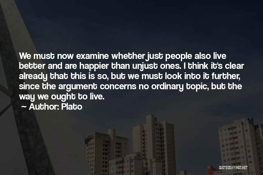 Live Happier Quotes By Plato