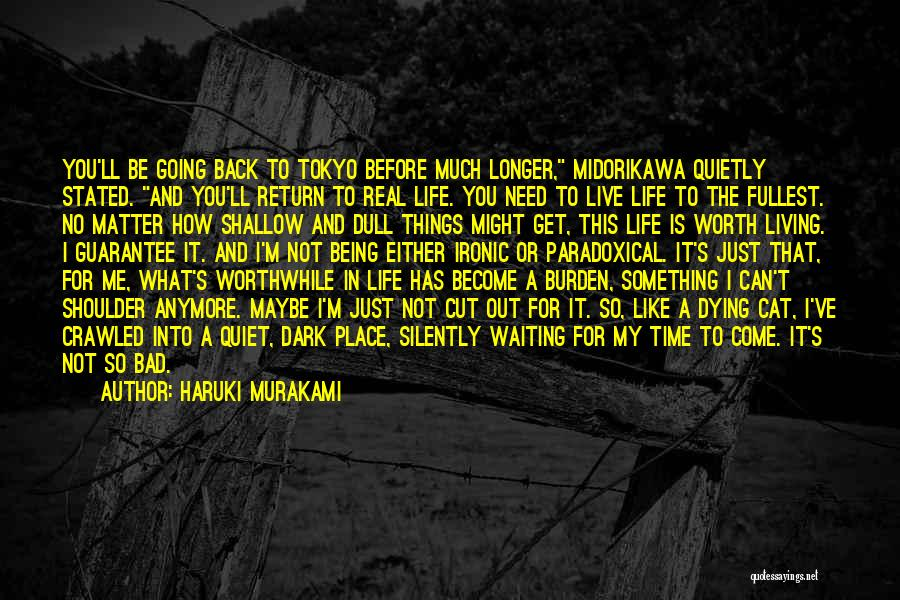 Live Life Like You're Dying Quotes By Haruki Murakami
