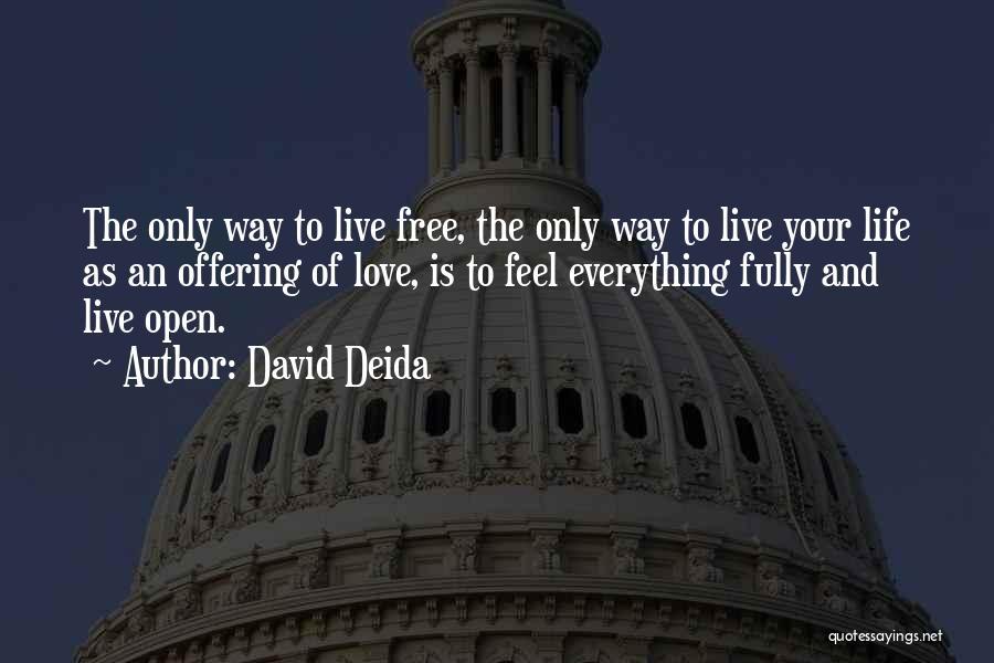 Live Life Love Quotes By David Deida