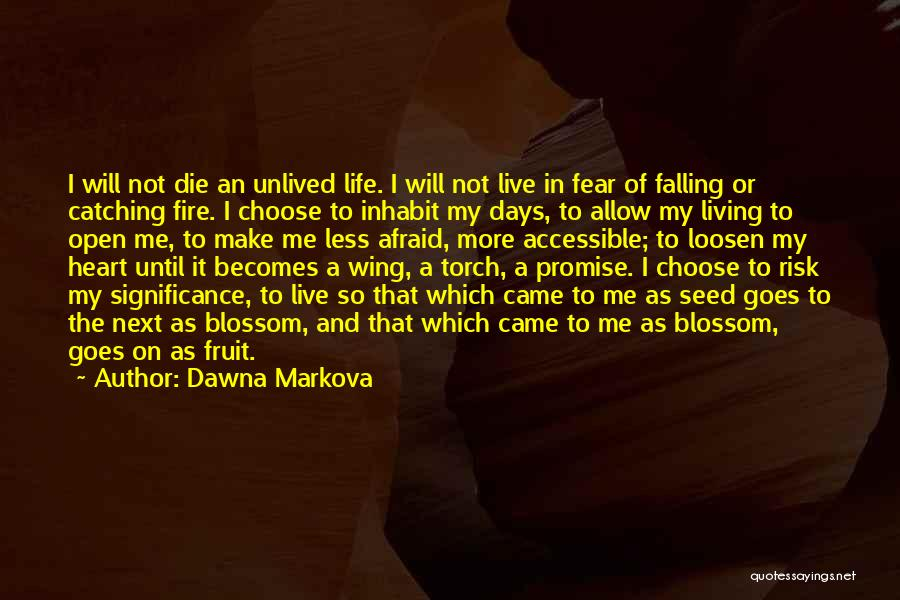 Live Or Die Quotes By Dawna Markova