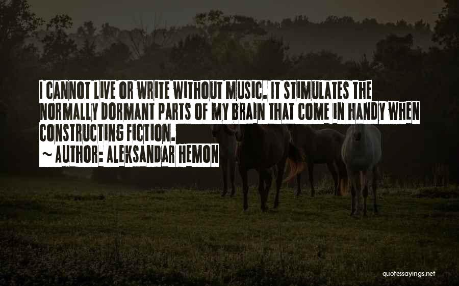 Live Without Music Quotes By Aleksandar Hemon