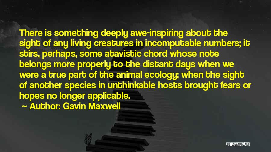 Living Creatures Quotes By Gavin Maxwell