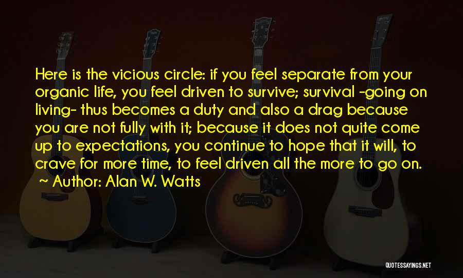 Living Life Fully Quotes By Alan W. Watts