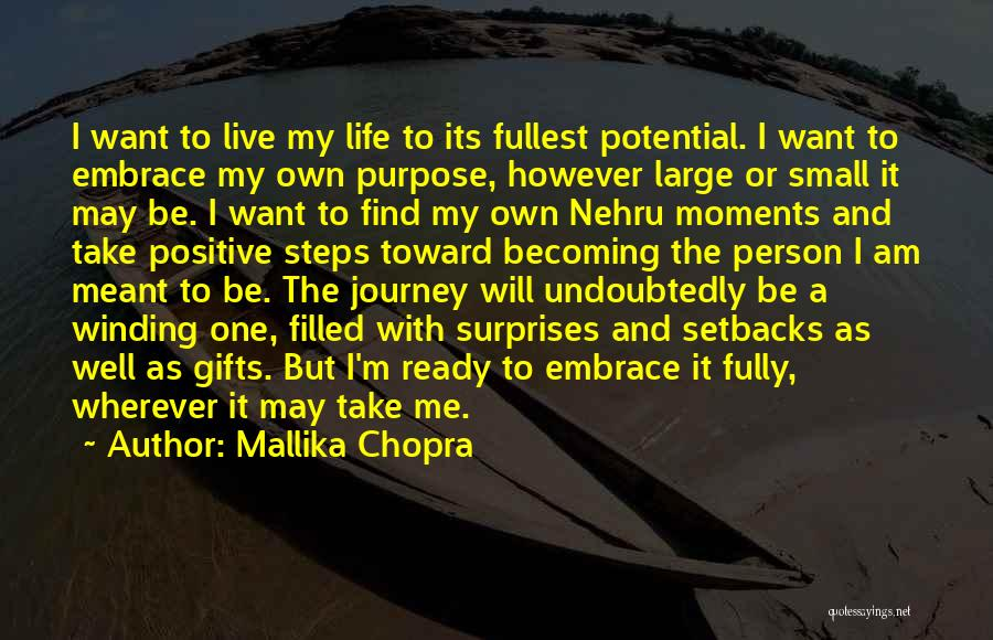 Living Life Fully Quotes By Mallika Chopra