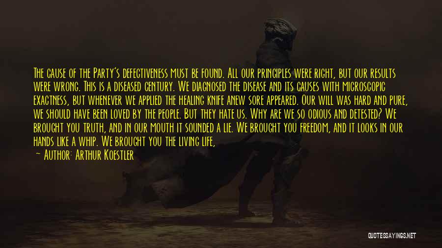 Living Life Right Quotes By Arthur Koestler