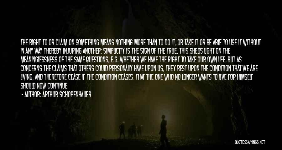 Living Life Right Quotes By Arthur Schopenhauer