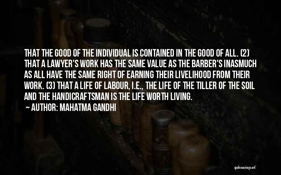Living Life Right Quotes By Mahatma Gandhi