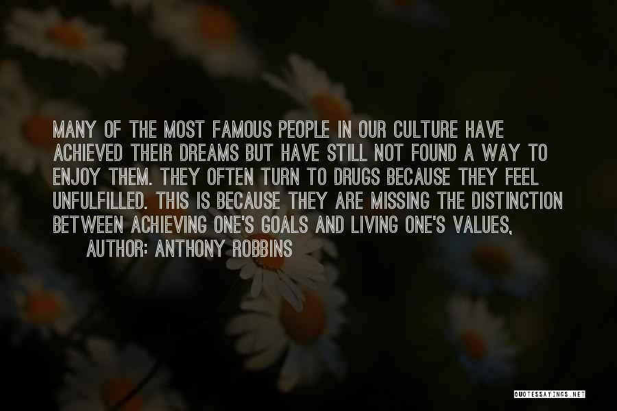 Living Our Values Quotes By Anthony Robbins
