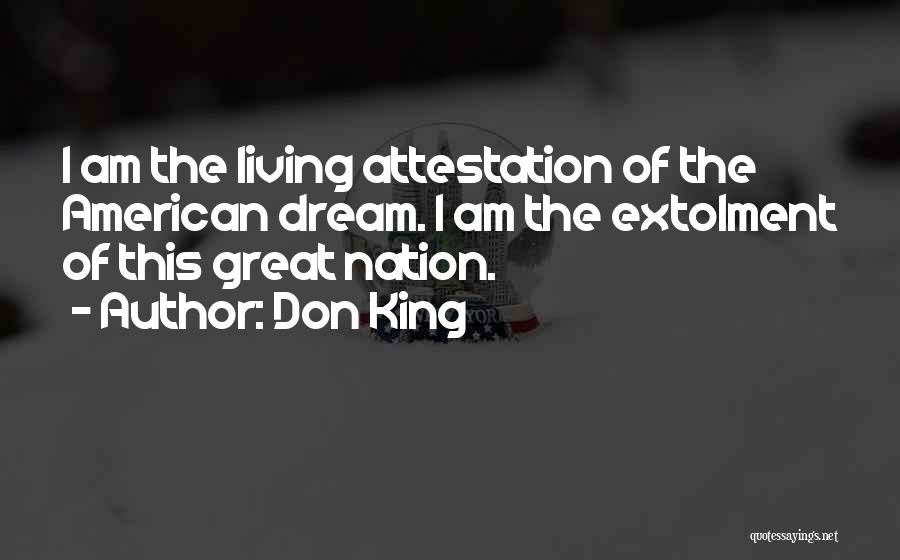 Living The American Dream Quotes By Don King