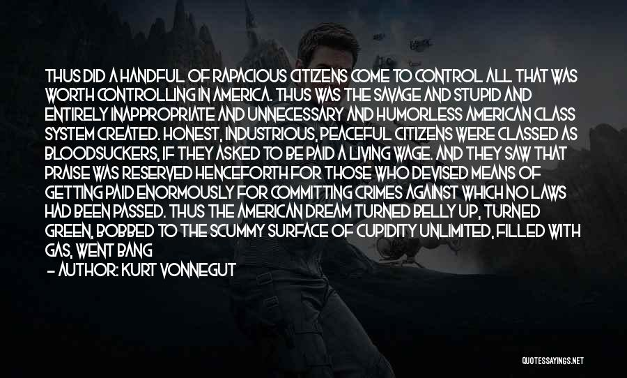Living The American Dream Quotes By Kurt Vonnegut