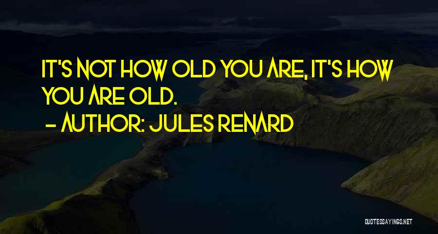 Living To An Old Age Quotes By Jules Renard