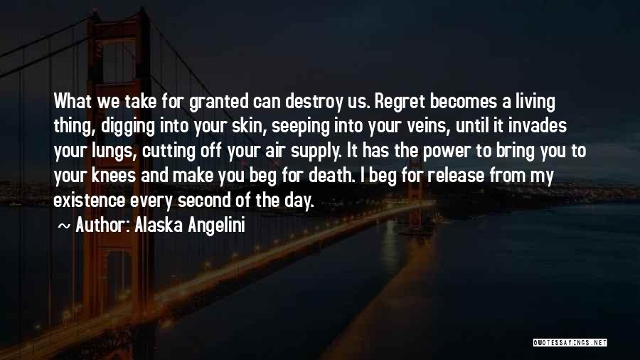 Living Without Regret Quotes By Alaska Angelini