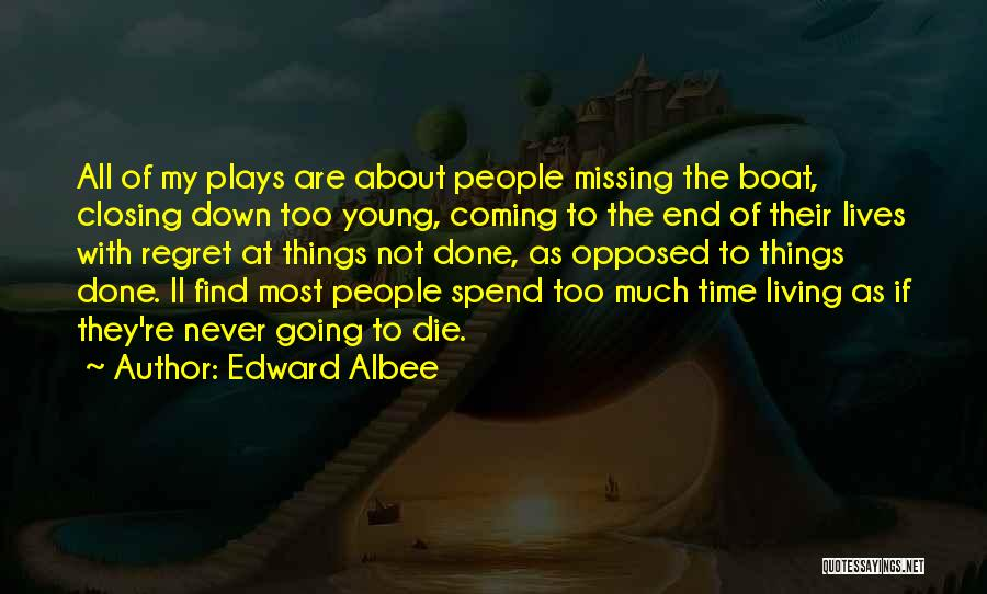 Living Without Regret Quotes By Edward Albee