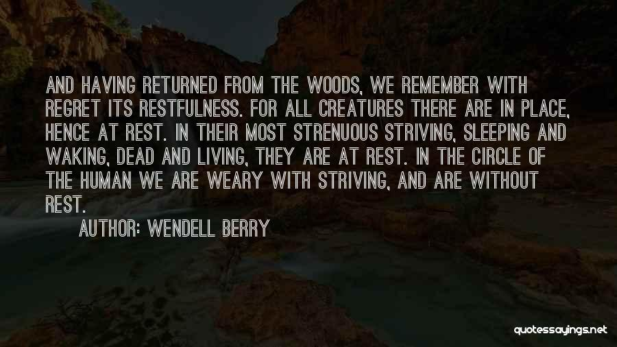 Living Without Regret Quotes By Wendell Berry