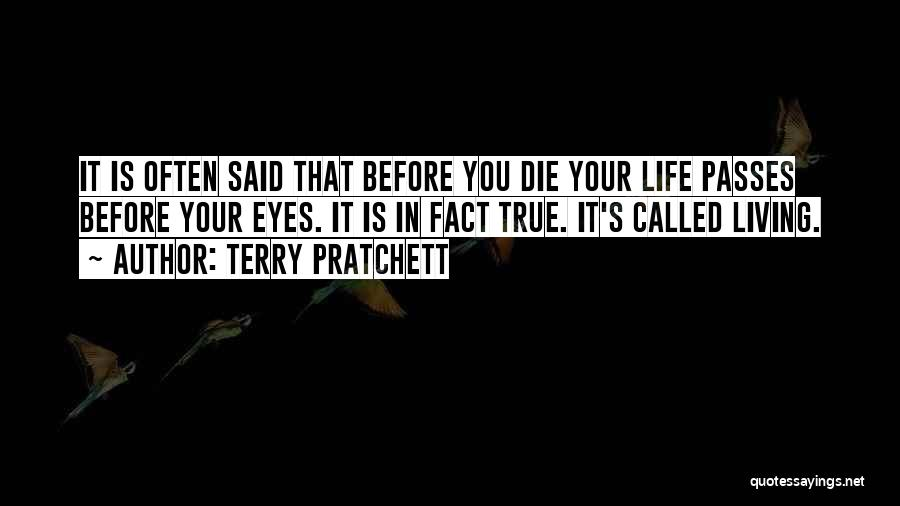 Living Your True Life Quotes By Terry Pratchett