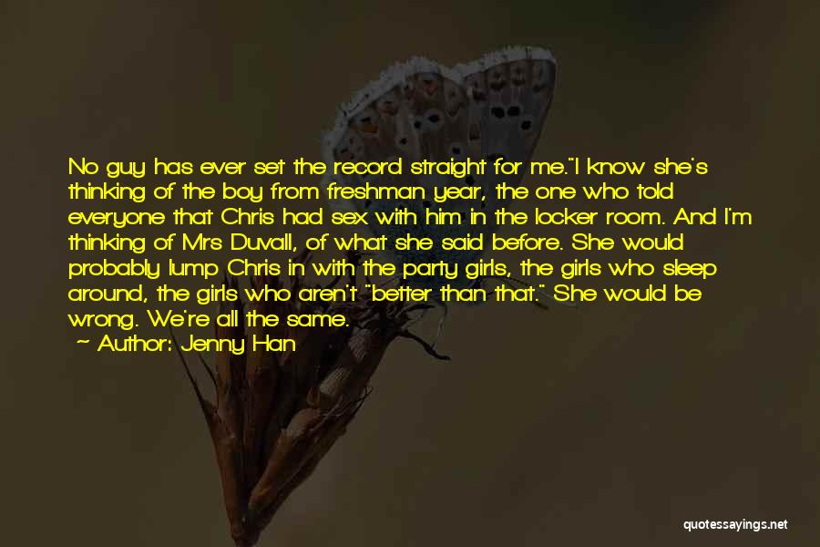 Locker Room Quotes By Jenny Han