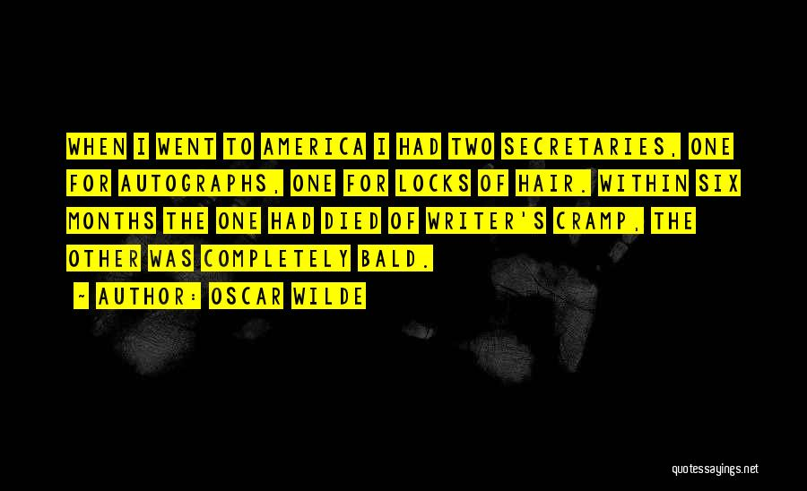 Locks Of Hair Quotes By Oscar Wilde