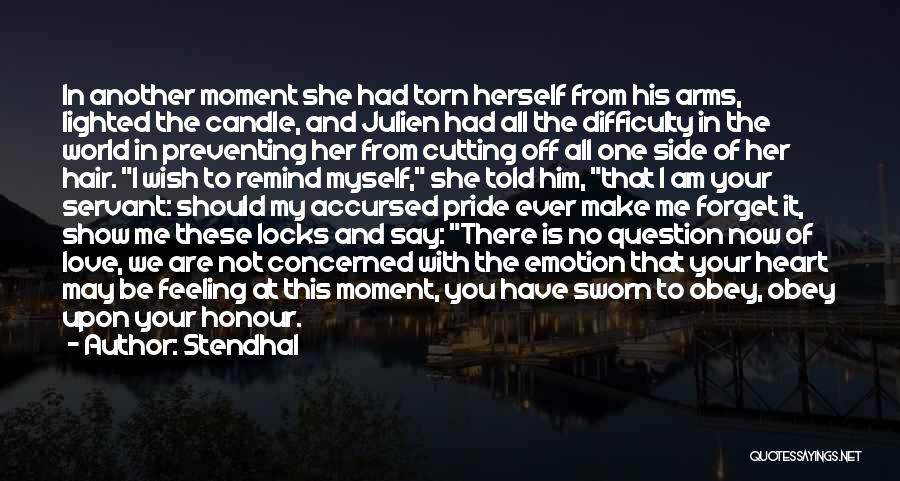 Locks Of Hair Quotes By Stendhal