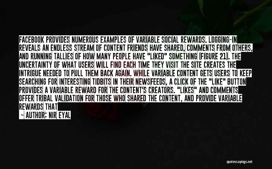 Logging Off Facebook Quotes By Nir Eyal