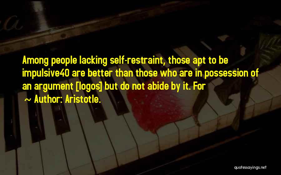 Logos Quotes By Aristotle.