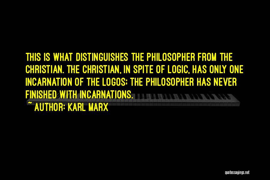 Logos Quotes By Karl Marx