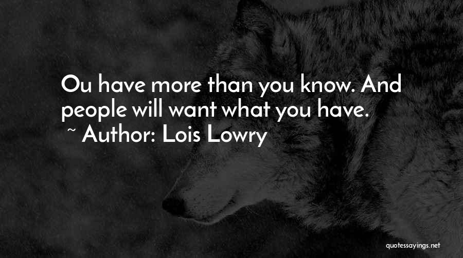 Lois Lowry Quotes 1811597