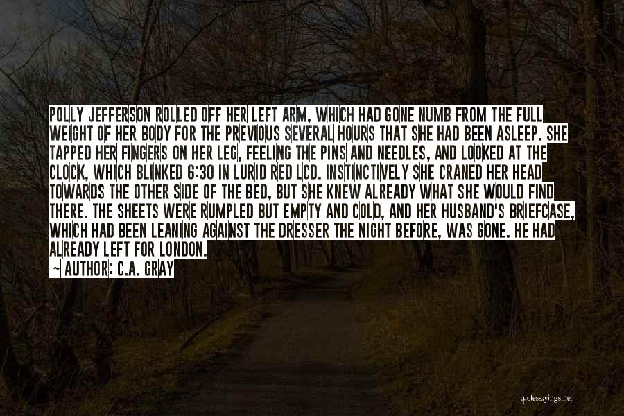 London At Night Quotes By C.A. Gray