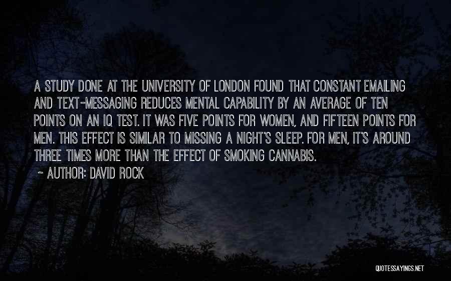 London At Night Quotes By David Rock