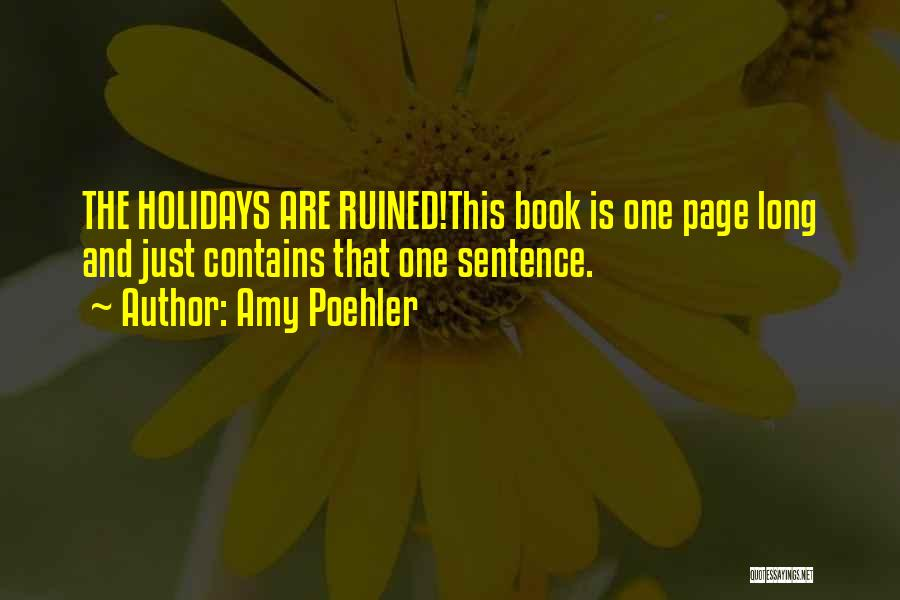 Long Holidays Quotes By Amy Poehler