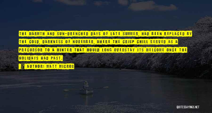 Long Holidays Quotes By Matt Micros