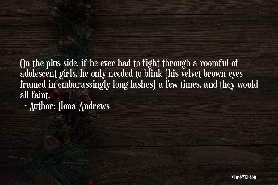 Long Lashes Quotes By Ilona Andrews