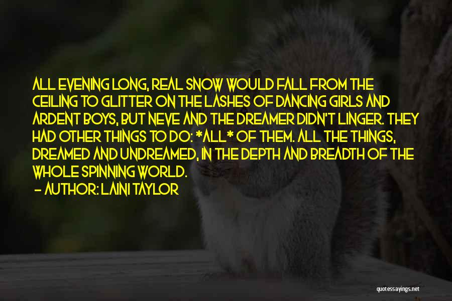 Long Lashes Quotes By Laini Taylor