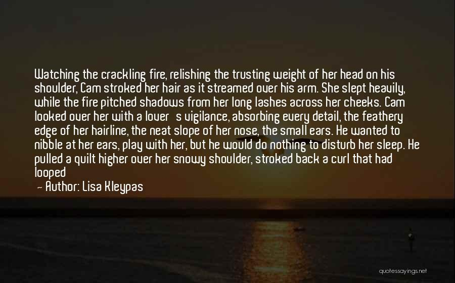 Long Lashes Quotes By Lisa Kleypas