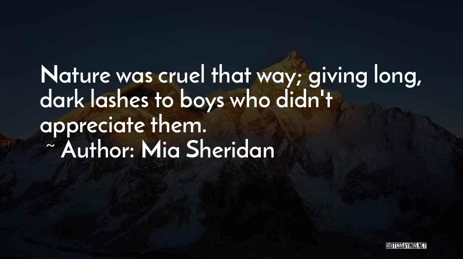 Long Lashes Quotes By Mia Sheridan