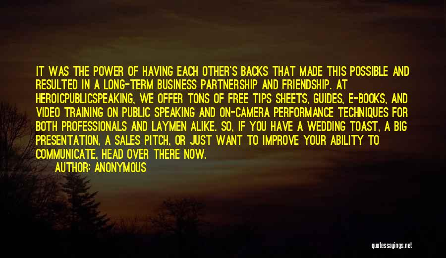 Long Term Friendship Quotes By Anonymous