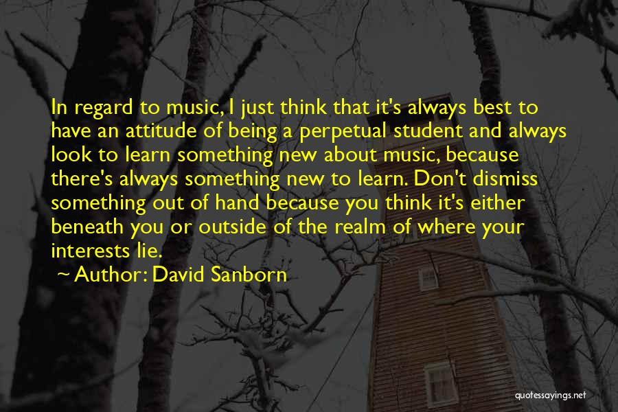 Look Beneath Quotes By David Sanborn