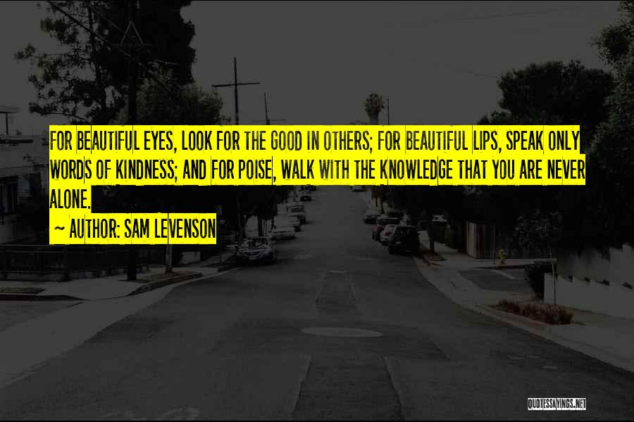 Look For Good In Others Quotes By Sam Levenson
