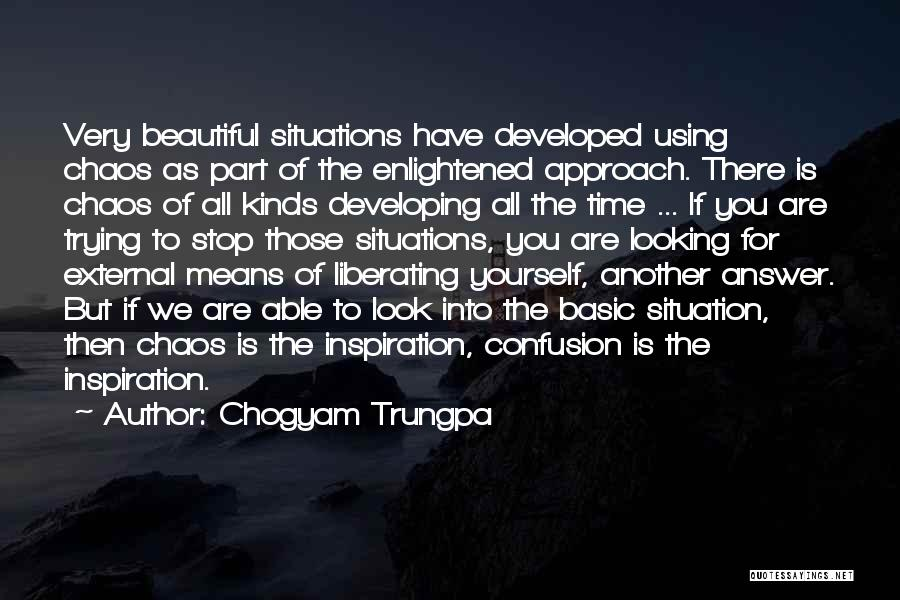 Look Into Yourself Quotes By Chogyam Trungpa